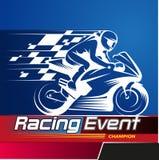 Kampioen van de motorfiets de Rennende Gebeurtenis Royalty-vrije Stock Afbeeldingen