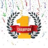 Kampioen, winnaar, nummer één achtergrond stock illustratie