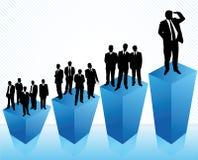 Kampioen in zaken stock illustratie