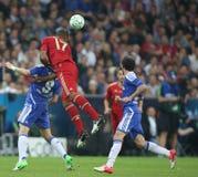2012 kampioenenliga Definitieve Chelsea Training Royalty-vrije Stock Foto's