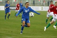 KAMPIOENSCHAP 2009, ITALIË-HONGARIJE VAN HET VOETBAL VAN UEFA HET VROUWELIJKE Stock Foto