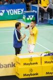 Kampioenschap 2013 van het Badminton van Maleisië het Open Stock Foto's