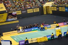 Kampioenschap 2013 van het Badminton van Maleisië het Open Stock Foto