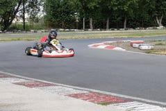 Kampioenschap van het gebied van Omsk op de zomer het karting Stock Foto's