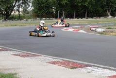 Kampioenschap van het gebied van Omsk op de zomer het karting Royalty-vrije Stock Afbeeldingen