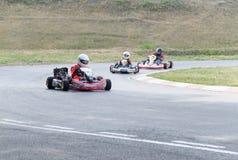 Kampioenschap van het gebied van Omsk op de zomer het karting Royalty-vrije Stock Foto