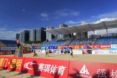 kampioenschap van het het strandvolleyball van China van 2014 het nationale Stock Fotografie