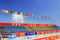 kampioenschap van het het strandvolleyball van China van 2014 het nationale Royalty-vrije Stock Foto