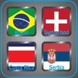 kampioenschap Voetbal Grafische vlaggen De Realistic Football ballen van groepsg vector illustratie