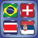 kampioenschap Voetbal Grafische vlaggen De Realistic Football ballen van groepsg royalty-vrije illustratie
