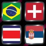 kampioenschap Voetbal Grafische vlaggen De Realistic Football ballen van groepsg Royalty-vrije Stock Afbeelding