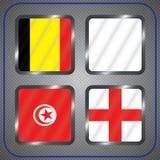 kampioenschap Voetbal Grafische vlaggen De Realistic Football ballen van groepsg Royalty-vrije Stock Afbeeldingen