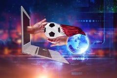 Kampioenschapswereld footbal 2022 royalty-vrije stock foto