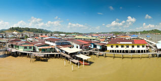Kampong Ayer panorama, Brunei Stock Photo