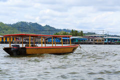 Kampong Ayer. Water village with boat at Kampong Ayer, Bandar Seri Begawan, Brunei, Southeast Asia Stock Images