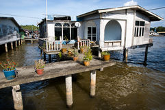 Kampong Ayer wioska Brunei - Bandar Seri Begawan - Obrazy Royalty Free