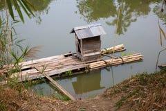 Kampong bathroom stock image
