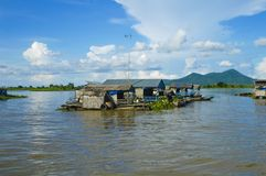 Kampong Chhnang province the makong river house near kongrie mountain in kingdom of cambodia near thailand border Stock Image