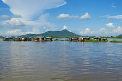 Kampong Chhnang province the makong river house near kongrie mountain in kingdom of cambodia near thailand border Royalty Free Stock Photos