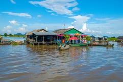Kampong Chhnang province the makong river house near kongrie mountain in kingdom of cambodia near thailand border Royalty Free Stock Photo