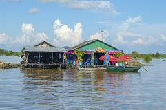 Kampong Chhnang province the makong river house near kongrie mountain in kingdom of cambodia near thailand border Stock Photography
