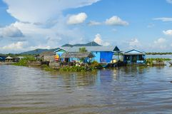 Kampong Chhnang province the makong river house near kongrie mountain in kingdom of cambodia near thailand border Stock Images