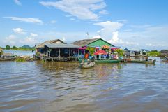 Kampong Chhnang province the makong river house near kongrie mountain in kingdom of cambodia near thailand border Royalty Free Stock Photography