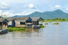 Kampong Chhnang province the makong river house near kongrie mountain in kingdom of cambodia near thailand border Stock Photos