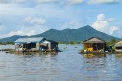 Kampong Chhnang province the makong river house near kongrie mountain in kingdom of cambodia near thailand border Stock Photo