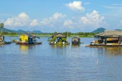 Kampong Chhnang prowincja makong rzeki dom blisko kongrie góry w królestwie Cambodia blisko Thailand granicy Obrazy Royalty Free