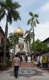 Kampong Glam neighborhood with Sultan Mosque Stock Images