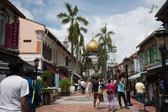 Kampong Glam and Sultan Mosque Royalty Free Stock Photography