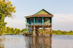 Kampong Phluk floating village Royalty Free Stock Images
