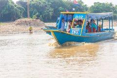 Kampong, Siem Reap, Cambodge février, 27 2015 : Touris non définis Photo stock