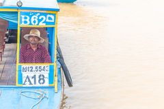 Kampong, Siem Reap, Cambodia February, 27 2015: Undefined boatma Royalty Free Stock Image