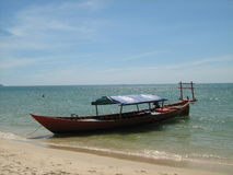 Kampong Som Beach. Is one of cambodian famous tourist place Royalty Free Stock Photos