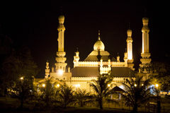 Kampong Tamoi Mosque, Brunei. Night image of Kampong Tamoi Mosque, Bandar Seri Begawan, Brunei Stock Photography