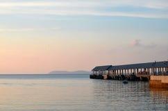 Kampong Tekek boat jetty at Tioman island Malaysia Stock Image