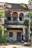 Kampot法国殖民地建筑学废墟,柬埔寨 库存图片