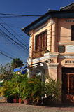 Kampot法国殖民地建筑学,柬埔寨 免版税库存图片