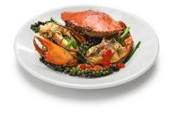 Kampot青椒螃蟹 库存图片