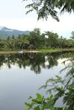 Praek Tuek Chhu river Kampot Cambodia. Kampot is a city in southern Cambodia and the capital of Kampot Province. It is situated at the Praek Tuek Chhu river Stock Photography