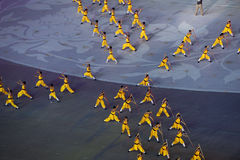 Kampsporter: den sjunde nationella staden spelar öppningscermonirepetition Royaltyfria Bilder