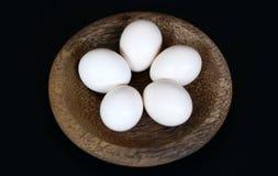 Kampung鸡鸡蛋 库存照片