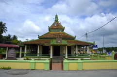 Kampung Ayer Barok Mosque in Malacca Royalty Free Stock Photography