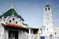 Kampung Kling moské på Malacca, Malaysia Arkivbilder
