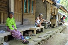 Kampung Naga mieszkanowie Obraz Stock