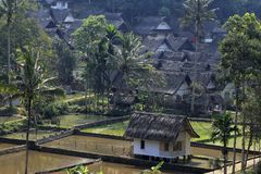 Kampung Naga traditional villages. In West Java Indonesia reject all forms of technology from outside cultures Royalty Free Stock Image