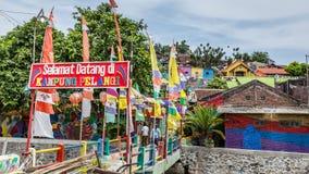 Kampung Pelangi στο Σεμαράνγκ Ινδονησία Στοκ φωτογραφίες με δικαίωμα ελεύθερης χρήσης