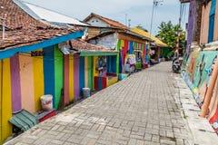 Kampung Pelangi στο Σεμαράνγκ Ινδονησία Στοκ Εικόνα